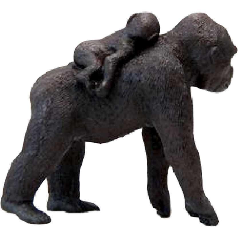 Miniatura de Gorila Femea com Bebe Schleich 14662