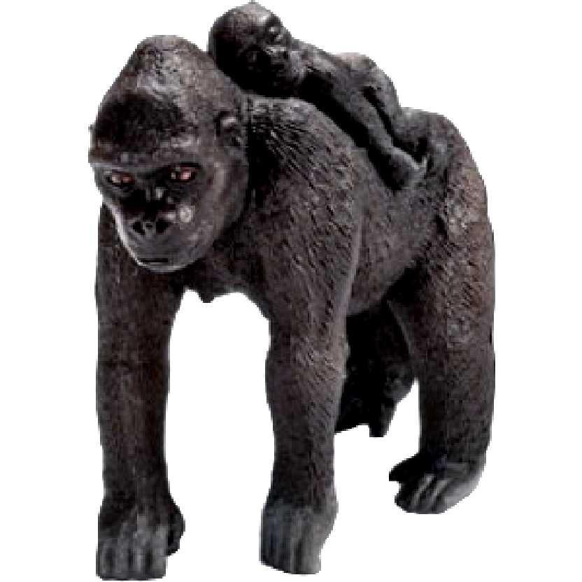Miniatura de Gorila Fêmea com Bebe Schleich 14662