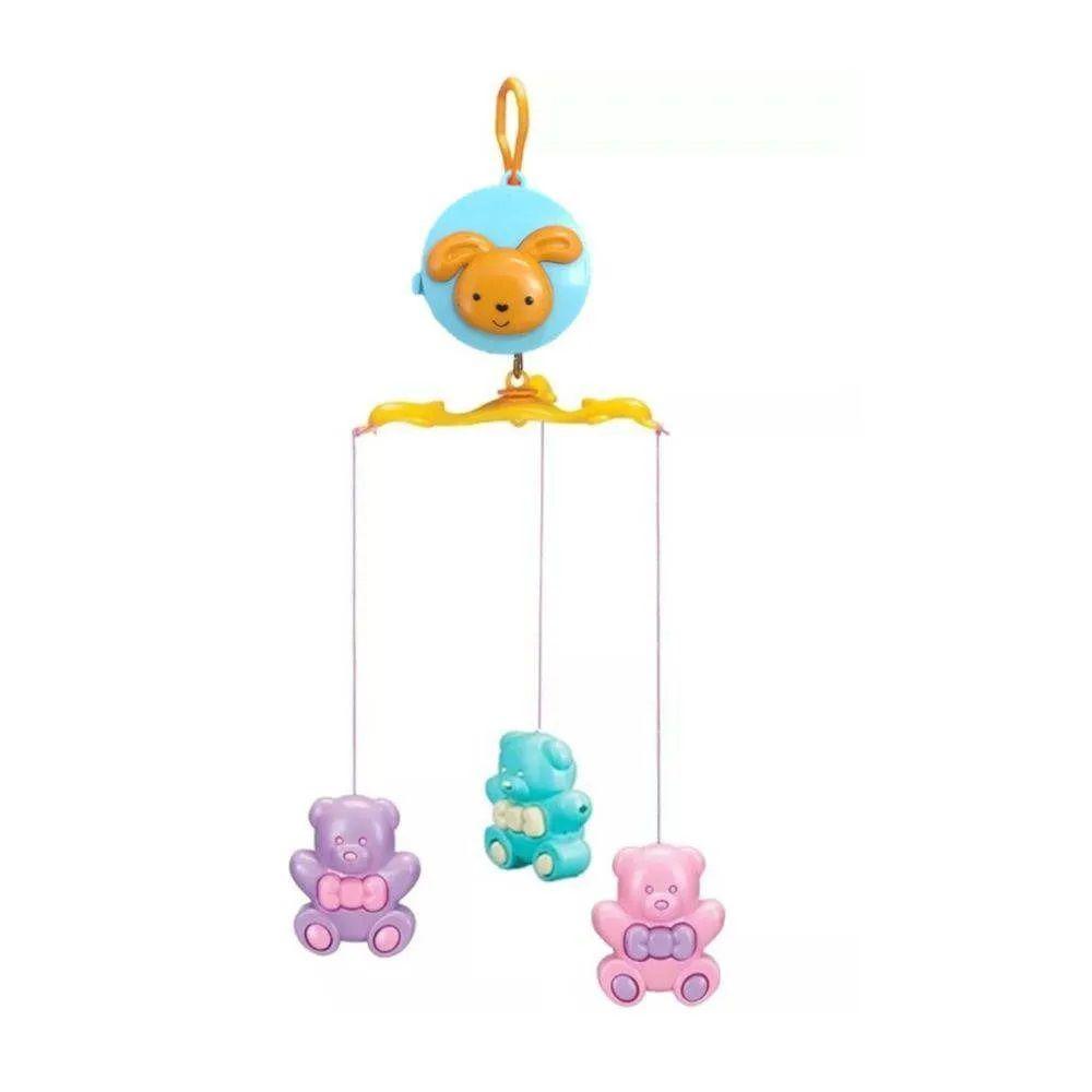 Mobile para Berço com Som e Giratorio Urso Brinquedo Bebe Pais e Filhos