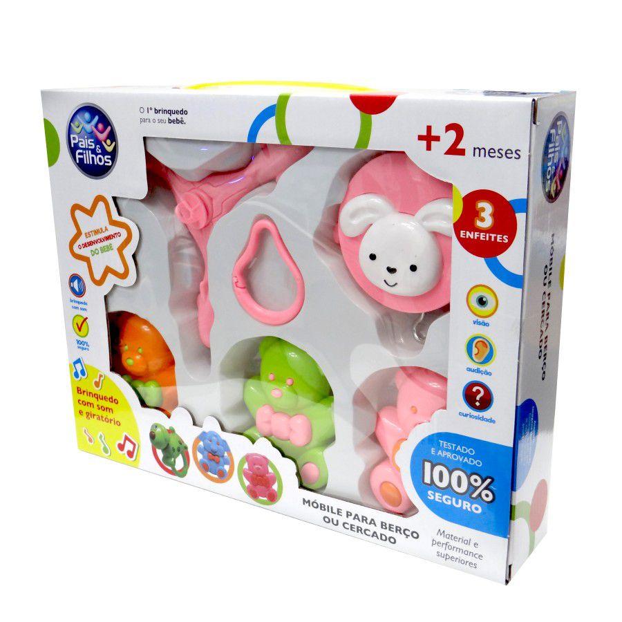 Mobile para Berço Musical e Giratório Urso Brinquedo para Bebe Pais e Filhos