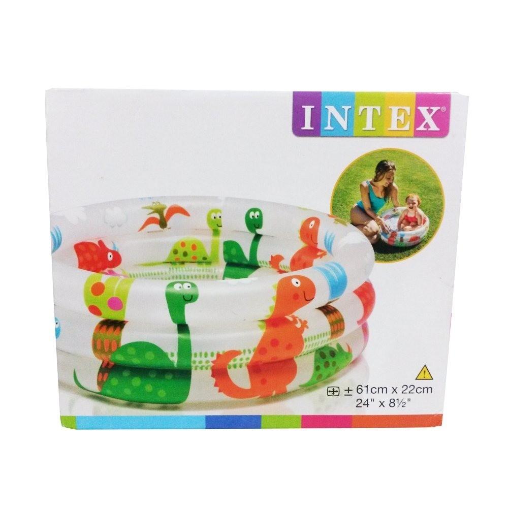 Piscina Infantil Inflável Dinossauro 28 Litros Intex