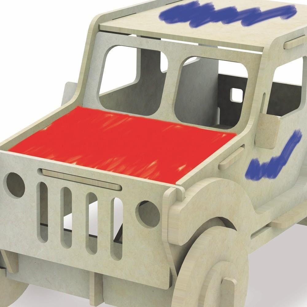Quebra-Cabeça Carrinho para Pintura 3D Brinquedo Xalingo
