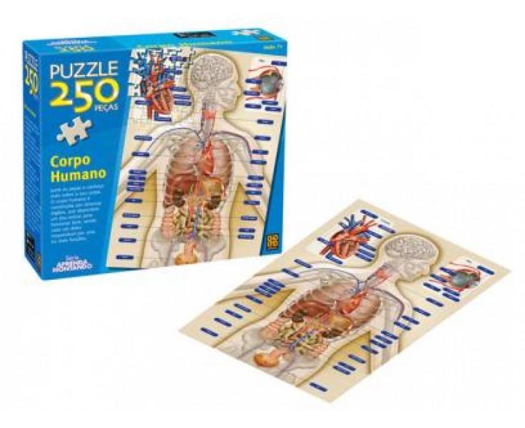 Quebra Cabeça Puzzle 250 Peças Corpo Humano Grow