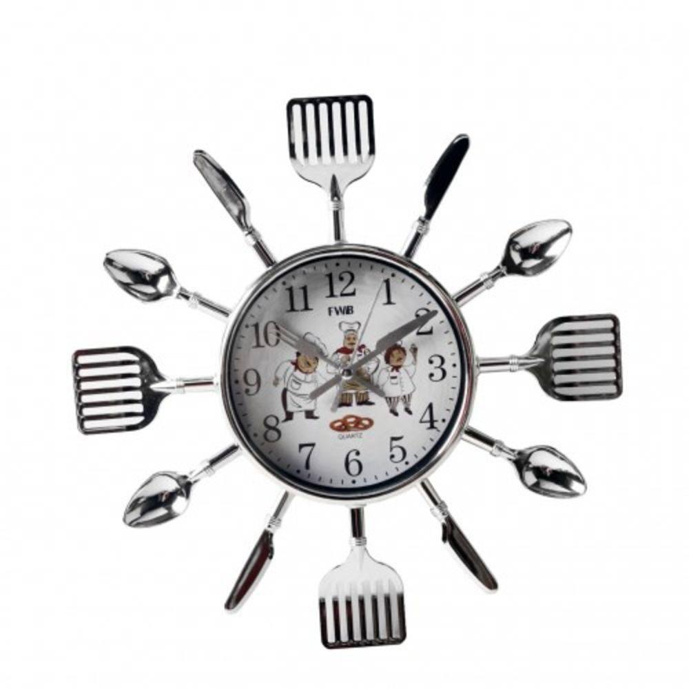 Relógio de Parede Analógico em Formato de Talheres FWB