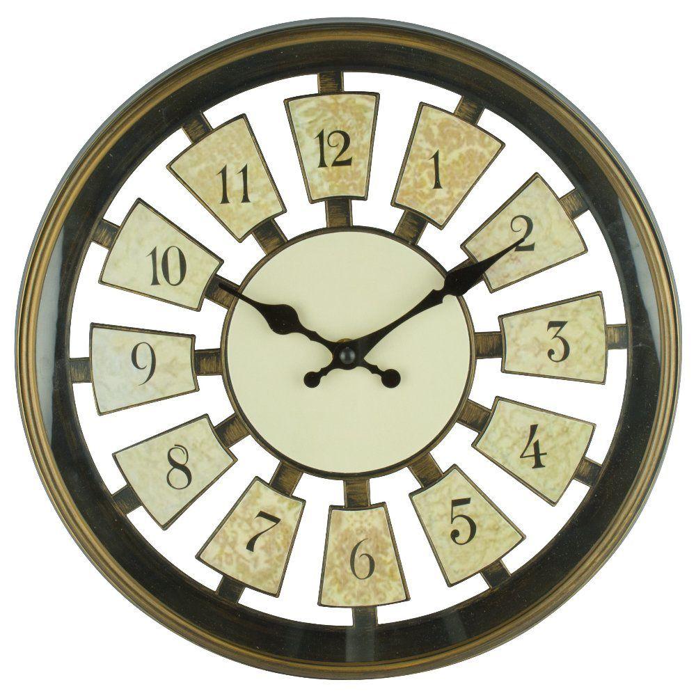 Relógio de Parede Redondo Vintage Analógico Sortido