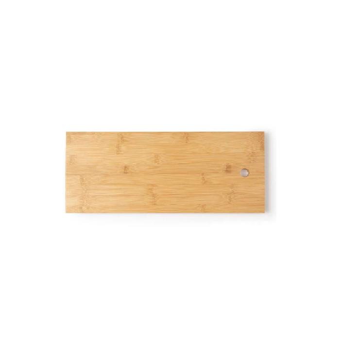 Tábua Retangular de Bamboo Média para Churrasco Mor