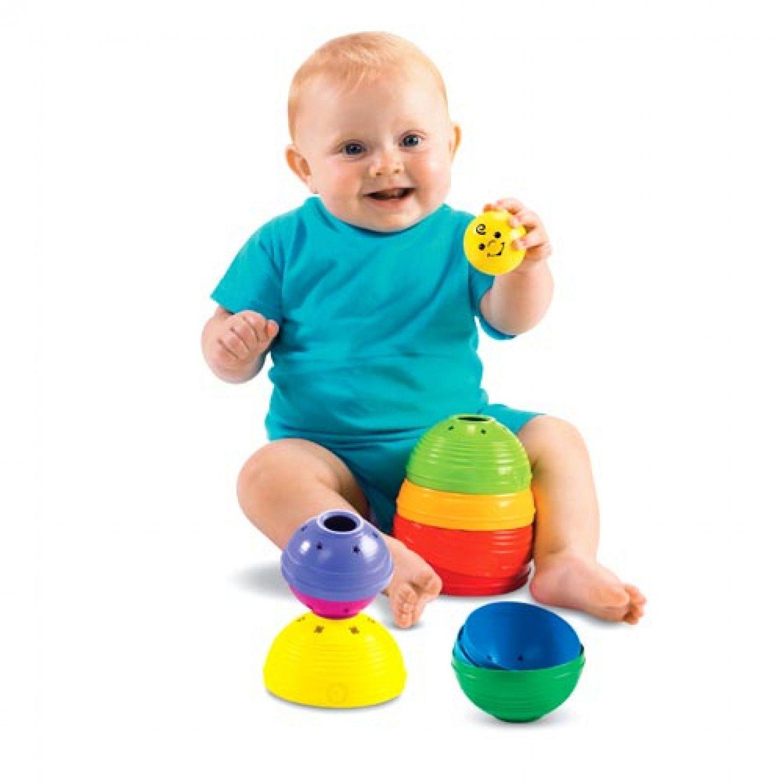 Torre de Potinhos Coloridos Brinquedo para Bebê Fisher Price
