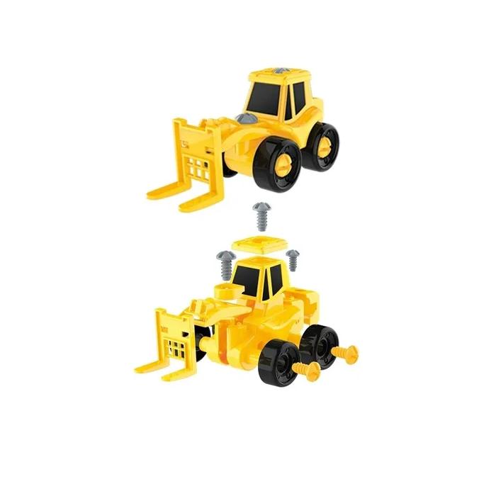 Trator Caminhão Monta e Desmonta Brinquedo Educativo Art Brink