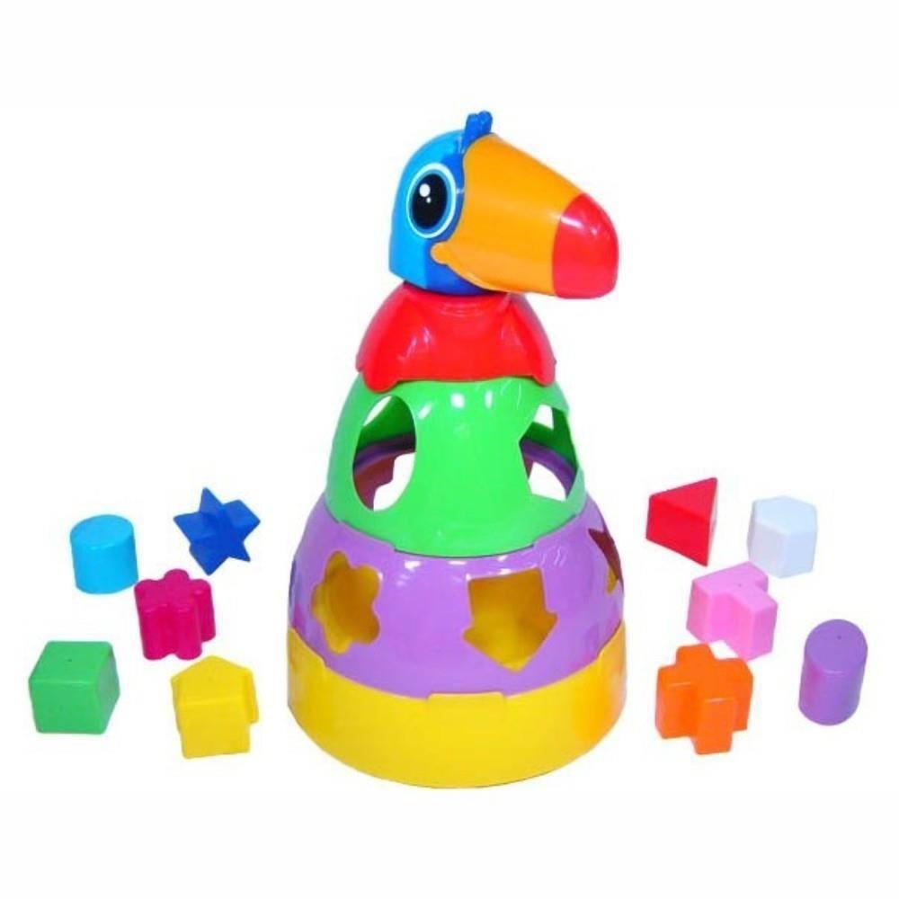 Tucano Brinquedo Didático para Bebês com Formas Geométricas Mercotoys