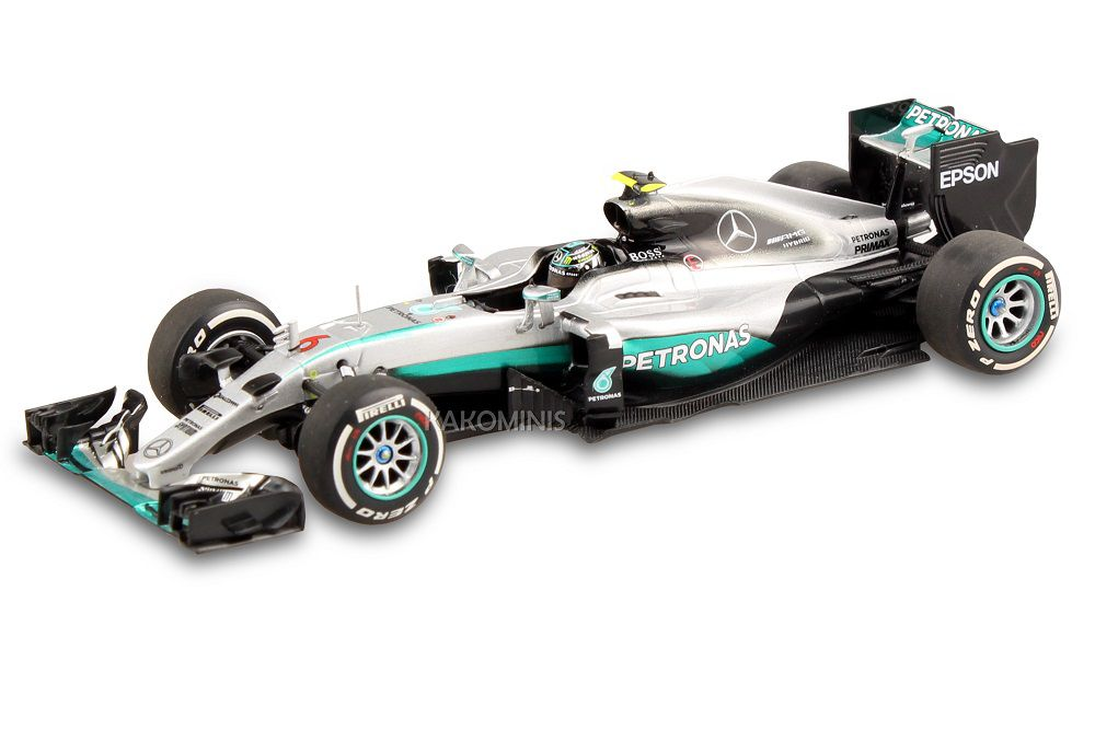 2014 Petronas F1 Nico Rosberg Diecast Model Car in 1:43 Scale by Minichamps Contemporary Manufacture Toys & Hobbies