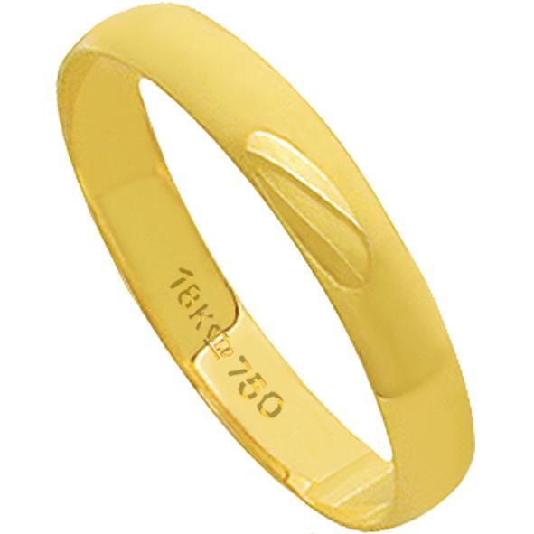 Aliança de Casamento Ouro 18k Lisa D035
