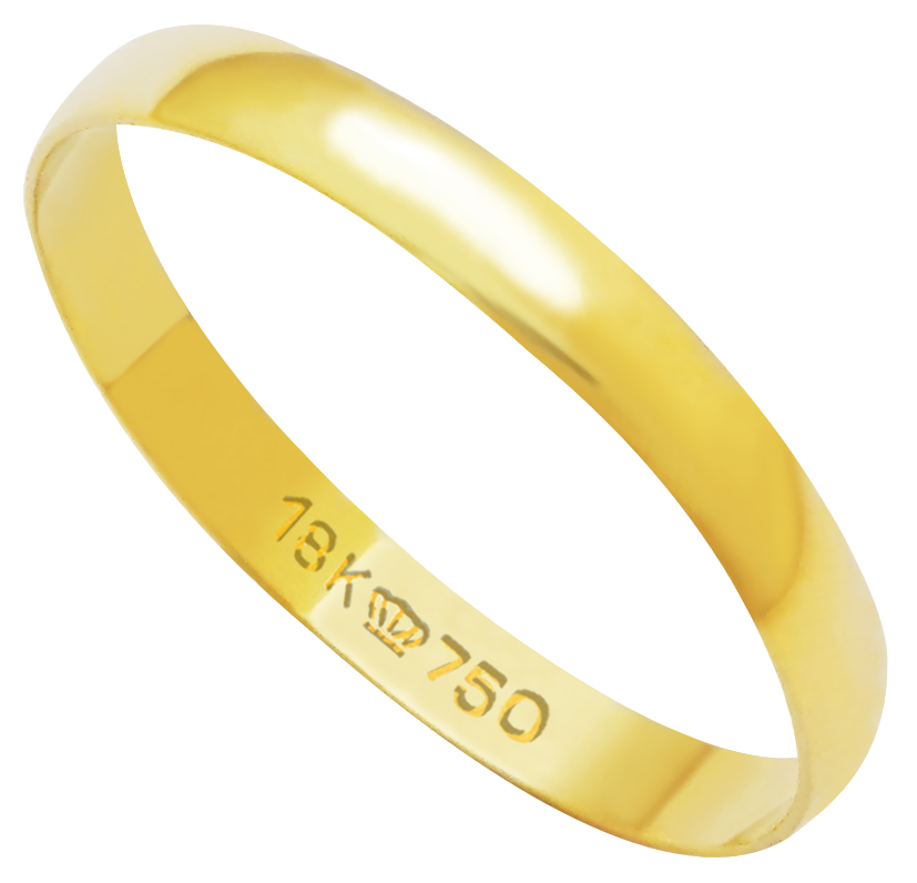 Aliança de Casamento Ouro 18k Lisa D250