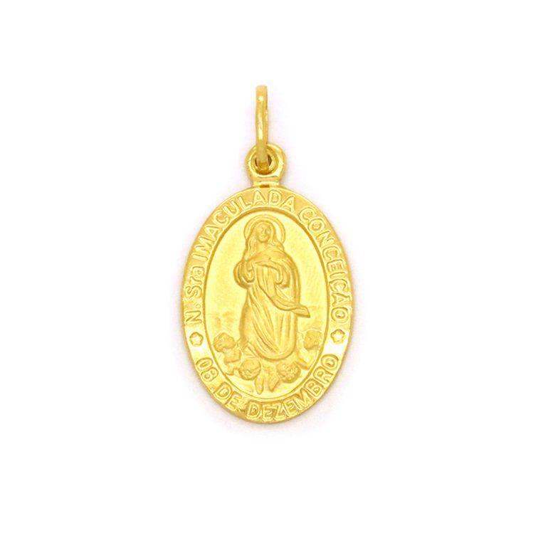 Pingente Ouro 18k Nossa Senhora da Conceição