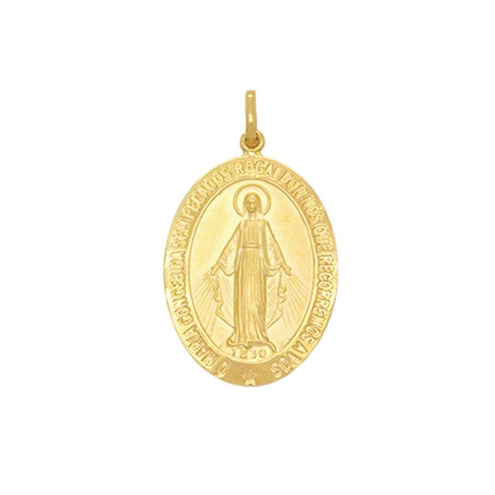 Pingente Ouro 18k Nossa Senhora das Graças Médio