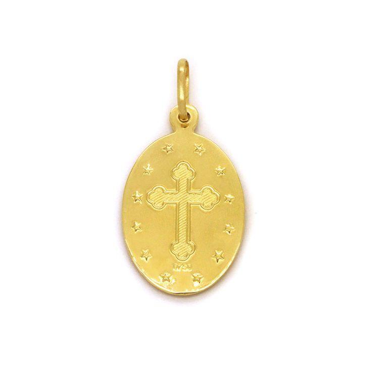 Pingente Ouro 18k Nossa Senhora de Fátima