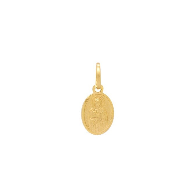 Pingente Ouro 18k Santa Edwiges Baby