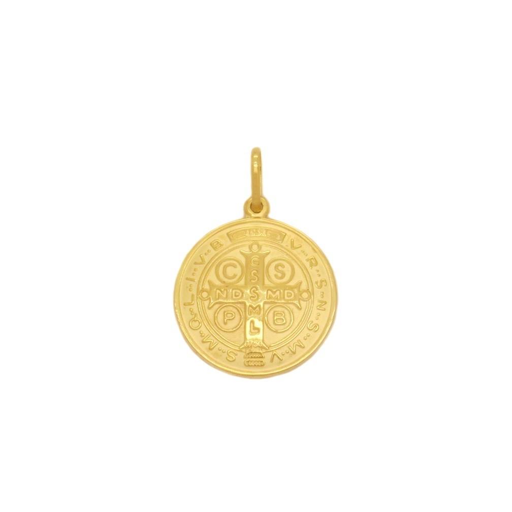 Pingente Ouro 18k São Bento Pequeno