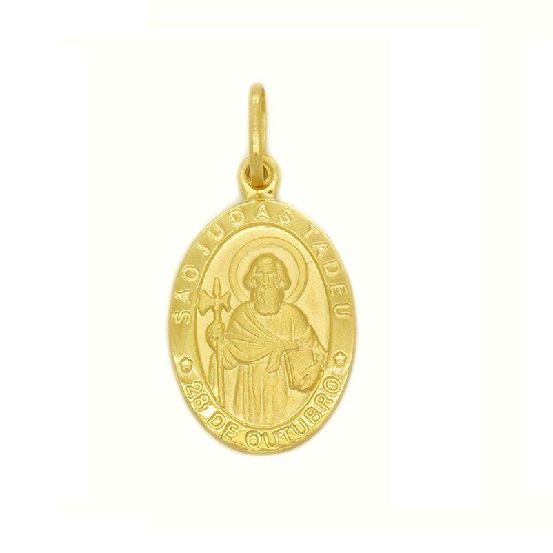 Pingente Ouro 18k São Judas Tadeu
