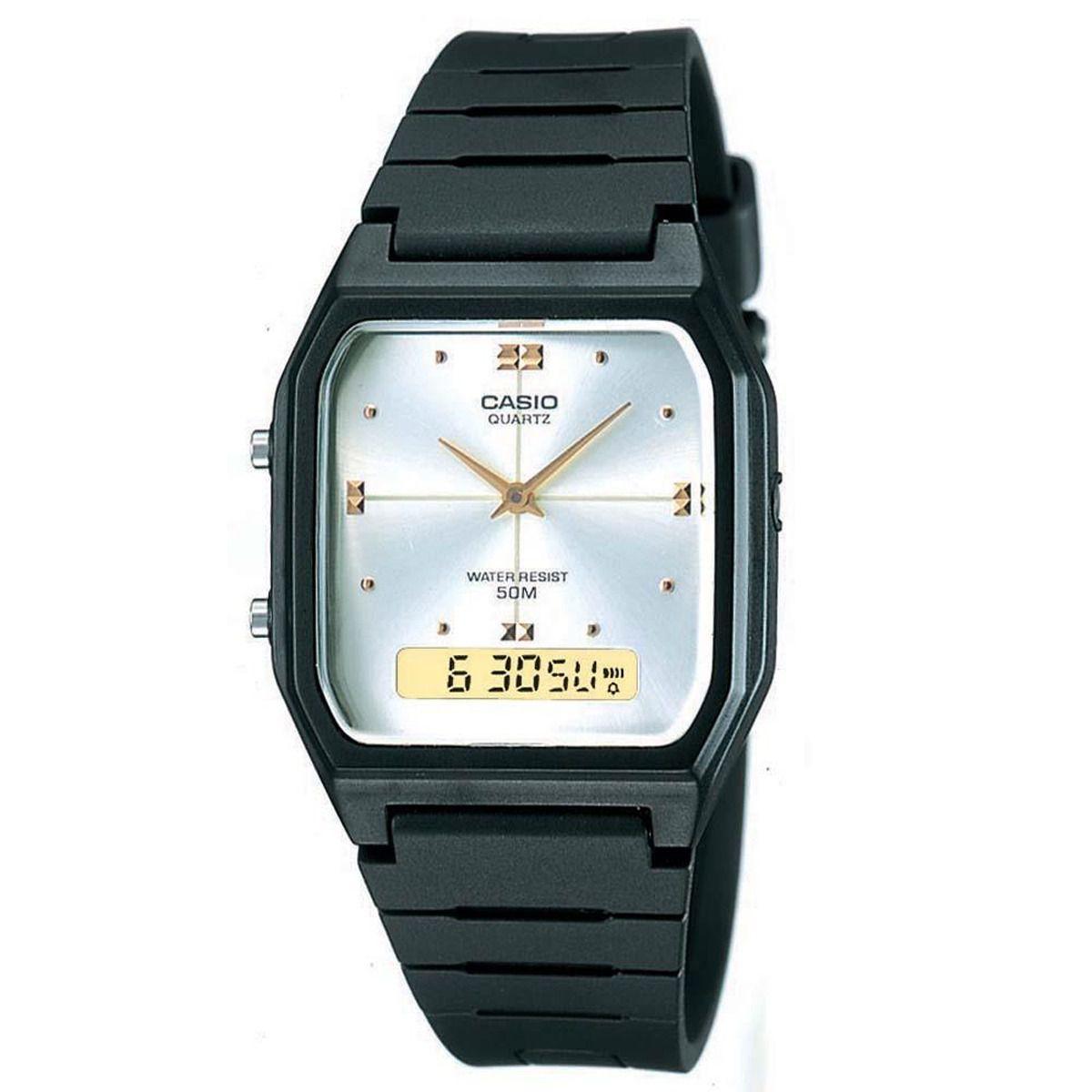 Relógio Casio Vintage Anadigi AW-48HE-7AVDF