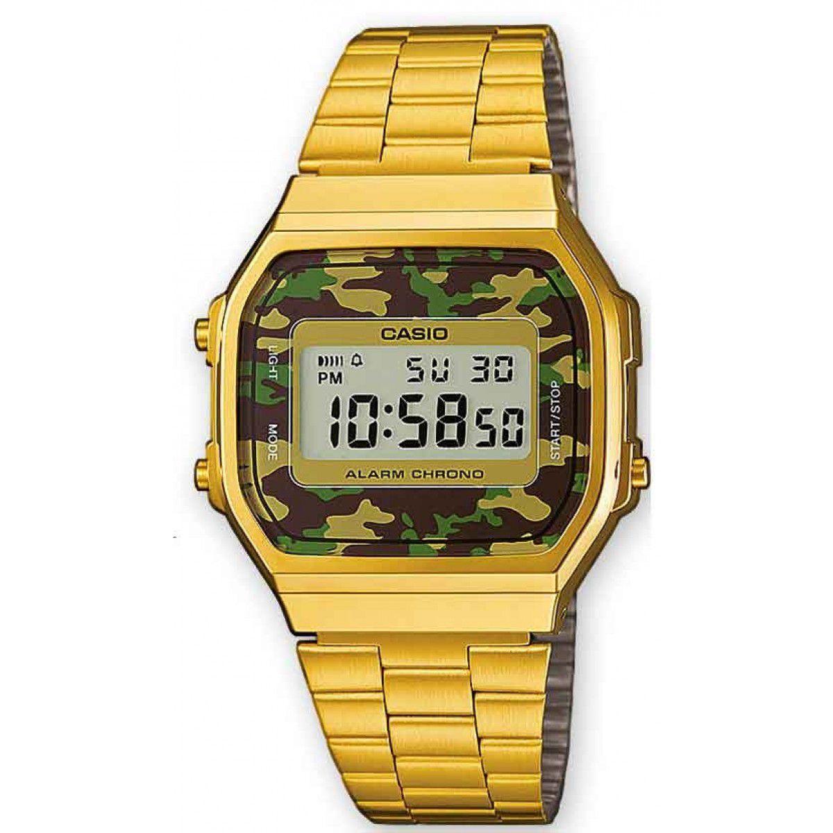 Relógio Casio Vintage Militar A168WEGC-3DF