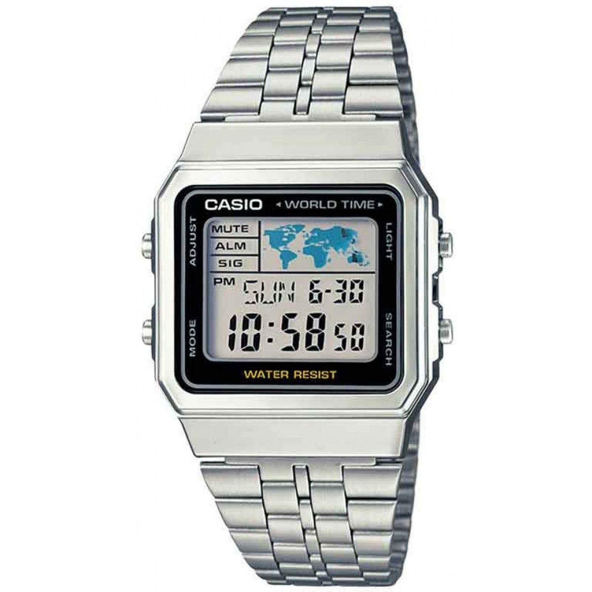 Relógio Casio Vintage World Time A500WA-1DF