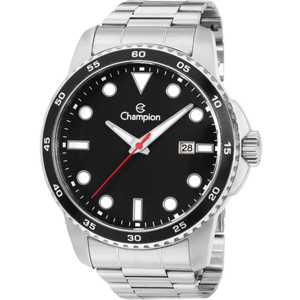 Relógio Champion Aço Calendário Masculino Ca31677t