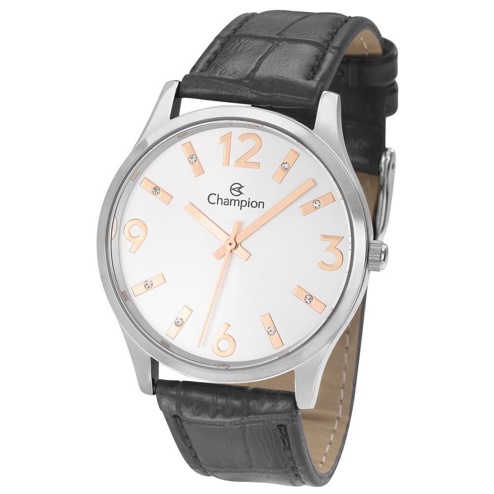 Relógio Champion De Couro Feminino Cn24217q