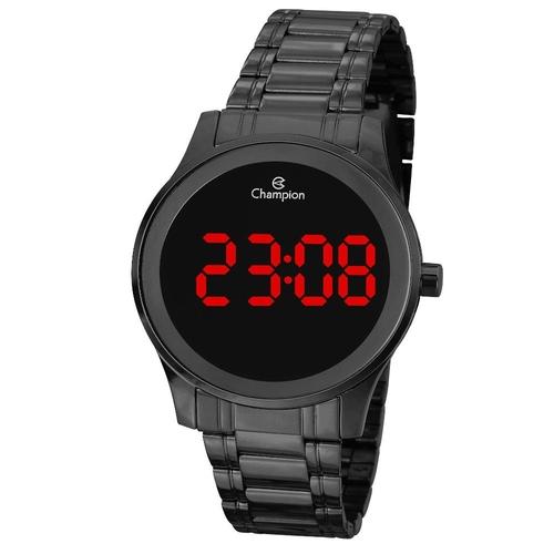 Relógio Champion Digital Feminino Preto Ch48046D Preto