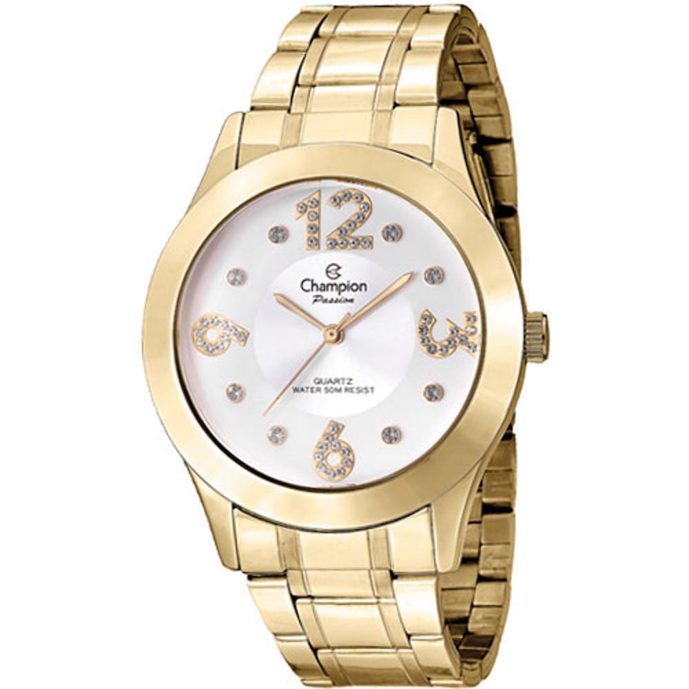 Relógio Champion Dourado Passion Feminino Cn29178h