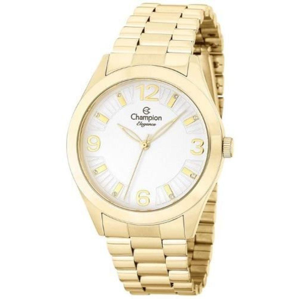 Relógio Champion Elegance Feminino Dourado CN25216H