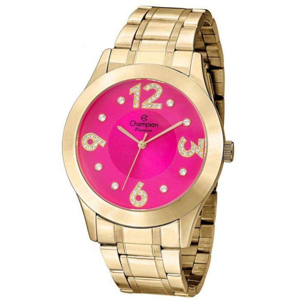 Relógio Champion Feminino Cn29178l Dourado