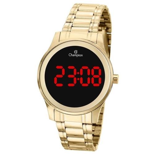 Relógio Champion Feminino Digital Dourado Ch48046h