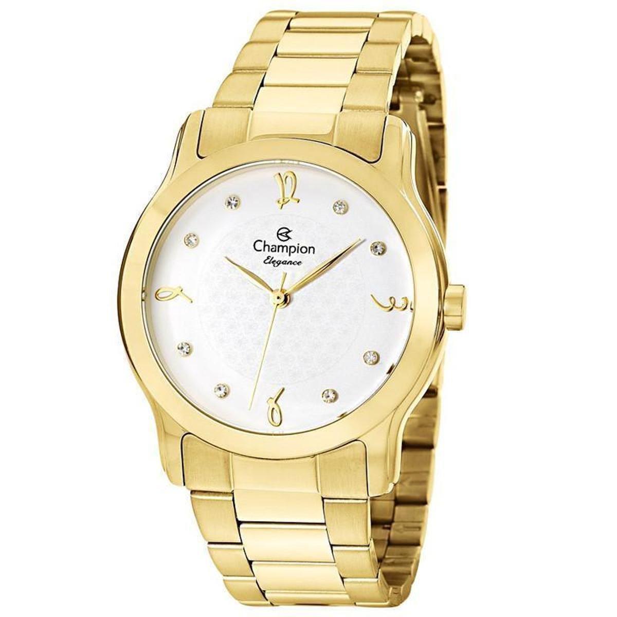 Relógio Champion Feminino Dourado CN26411H