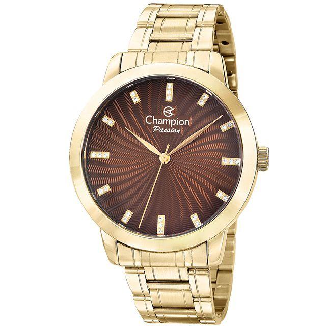 Relógio Champion Feminino Dourado Cn29276O
