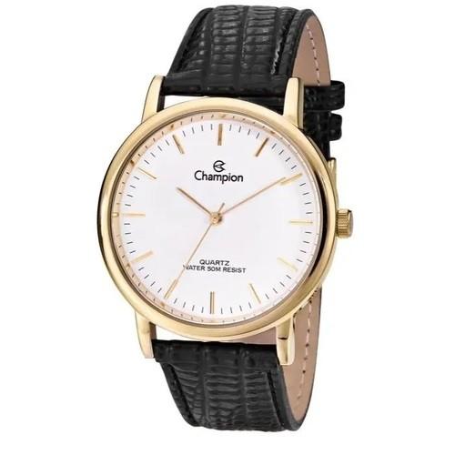 Relógio Champion Feminino Social Couro CN20042B