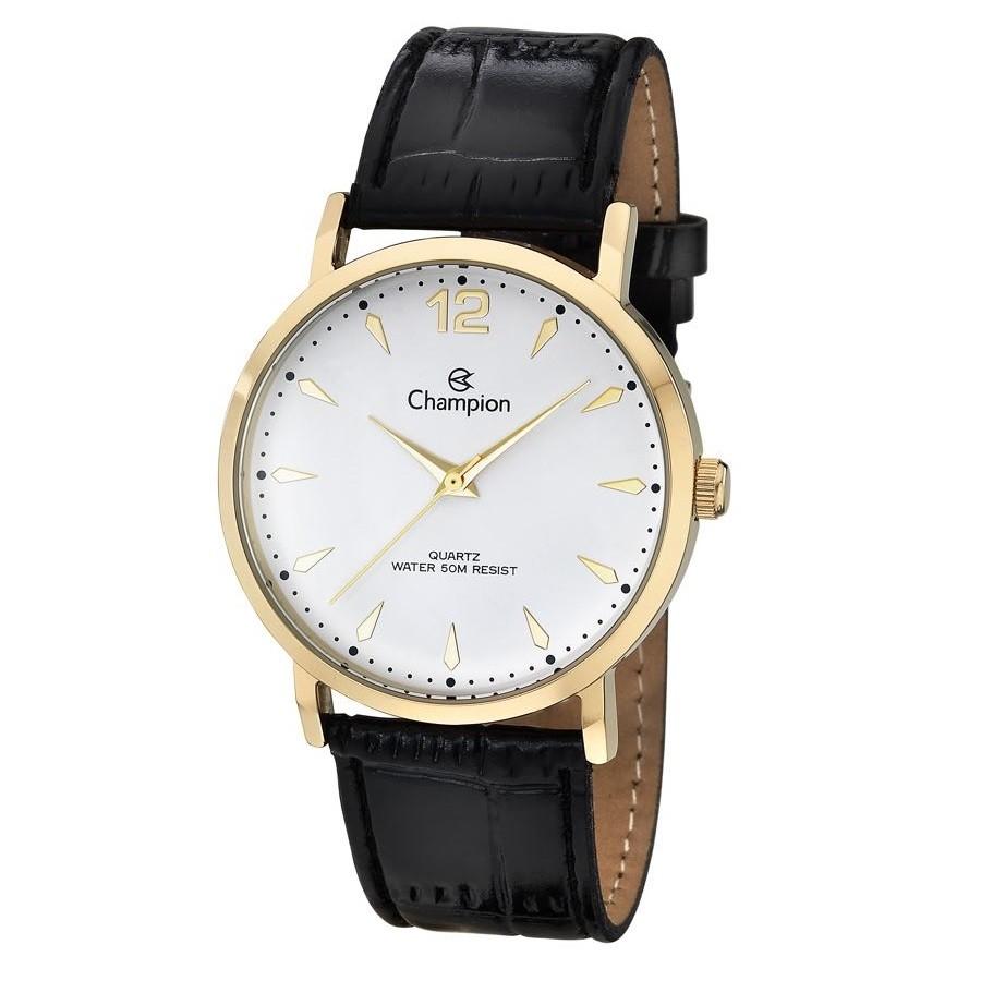 Relógio Champion Masculino com Pulseira de Couro CH22715M