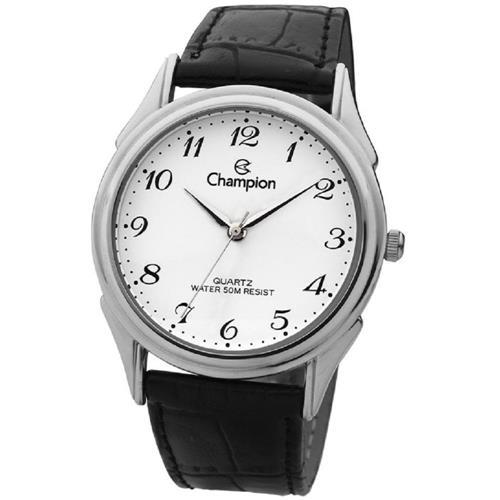 Relógio Champion Masculino Couro Ch22219s