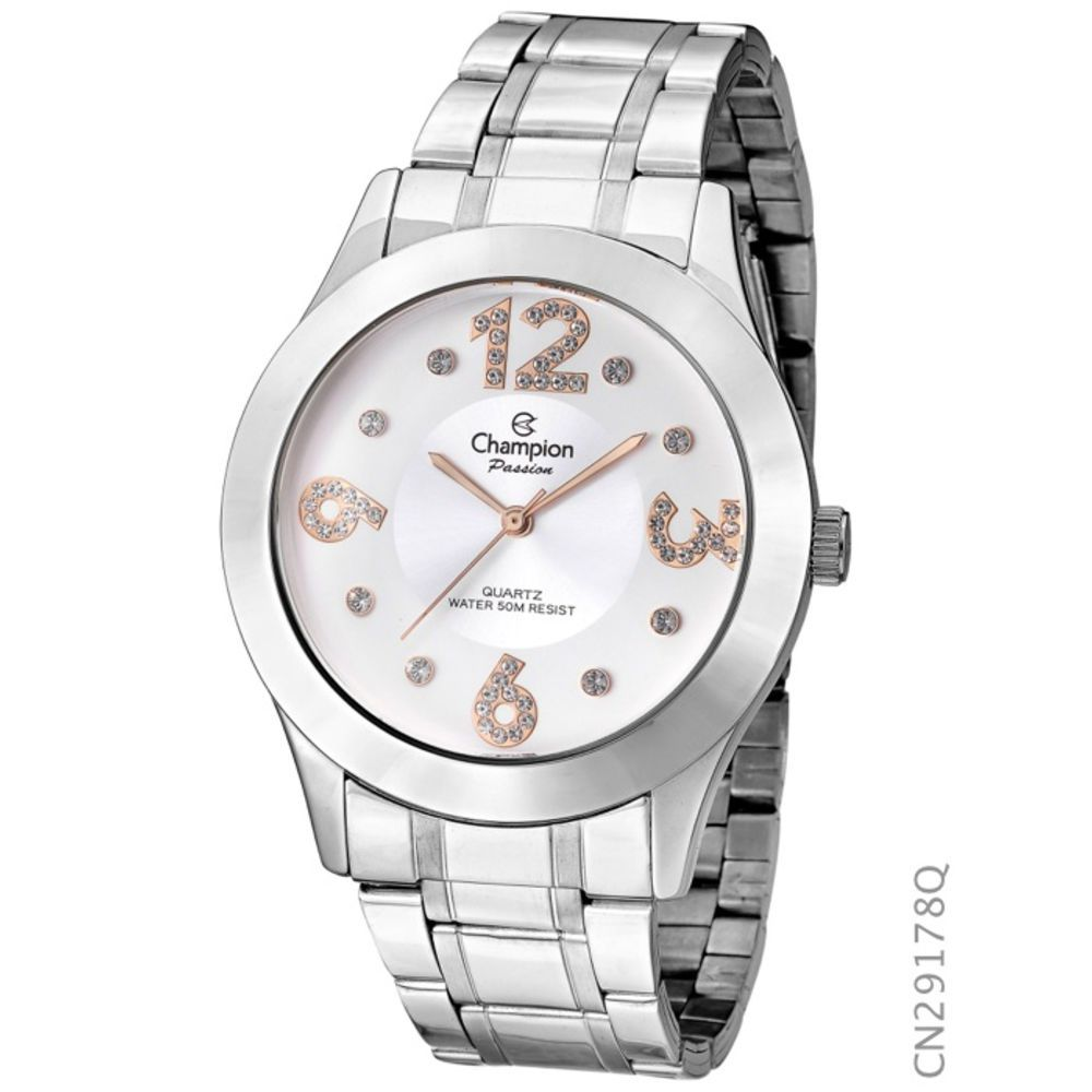 Relógio Champion Prateado Feminino Cn29178q