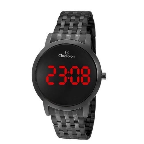 Relógio Digital Led Preto Feminino Champion Ch40099D
