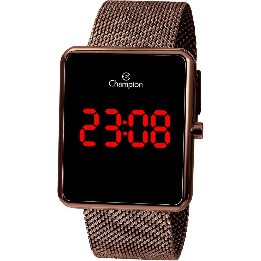 Relógio Feminino Champion Quadrado Digital CH40080R