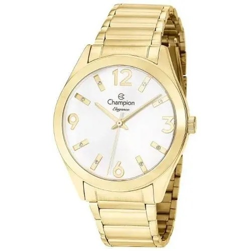 Relógio Feminino Dourado Champion Cn25396h