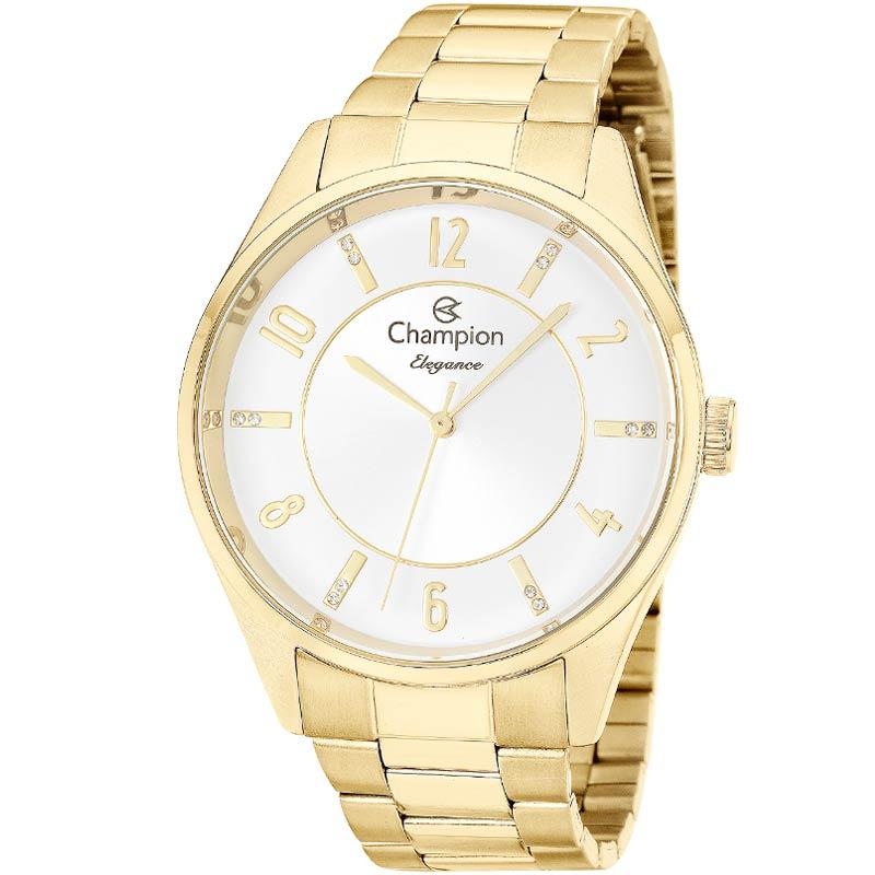 Relógio Feminino Dourado Champion Cn26288H