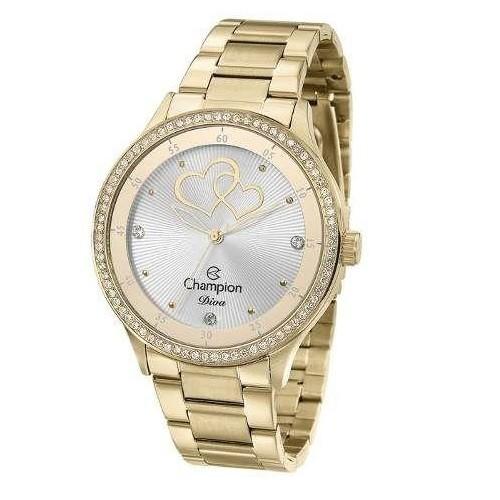 Relógio Feminino Dourado Champion Cn29721h
