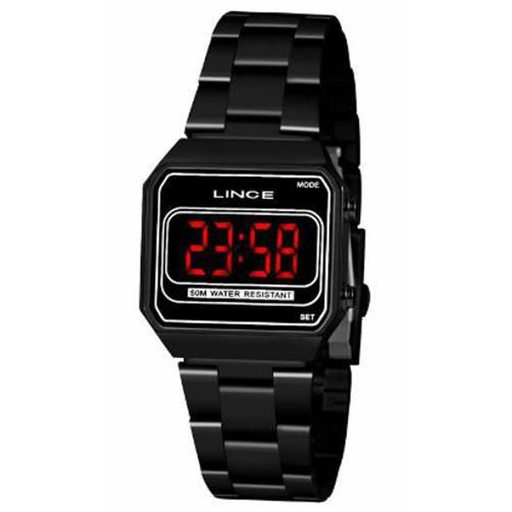 Relógio Lince Mdn4645l Pxpx Digital Feminino Preto