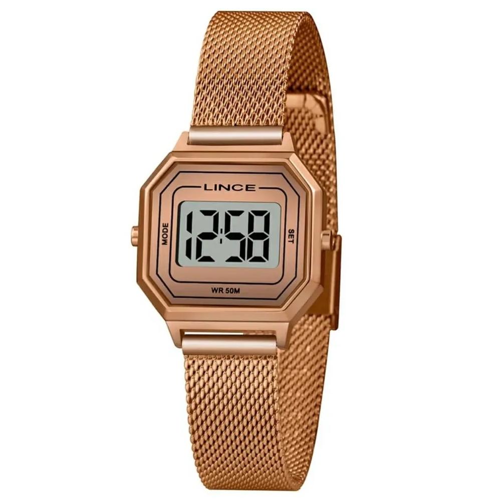 Relógio Lince Sdph132l Bxrx Digital Feminino Rosé
