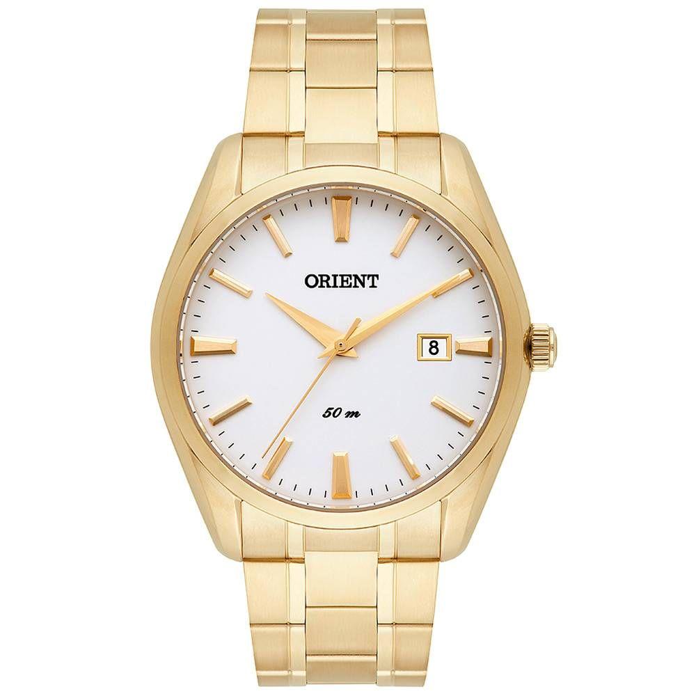 Relógio Masculino Dourado Orient Mgss1140 B1kx