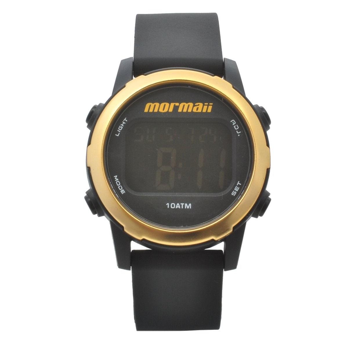 Relógio Mormaii Feminino Preto e Dourado  MO3700AA/k8D