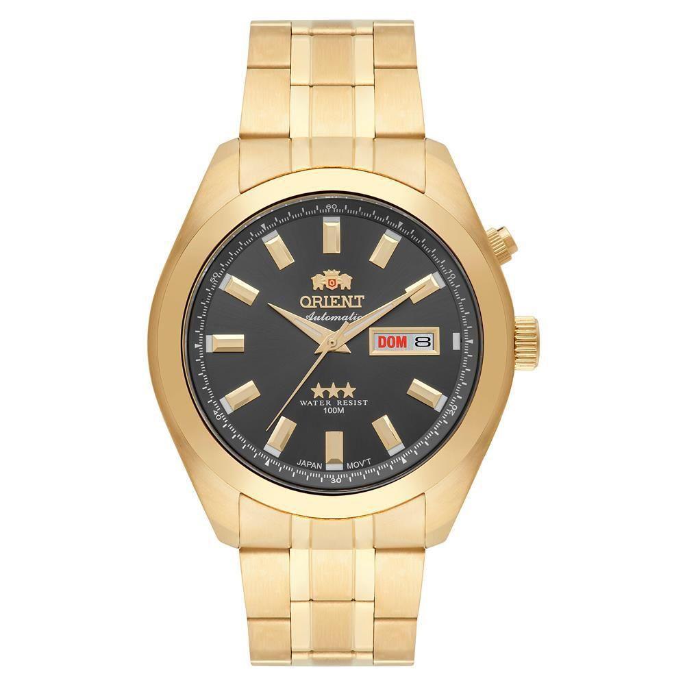 Relógio Orient Automático Dourado Masculino 469gp075 G1KX