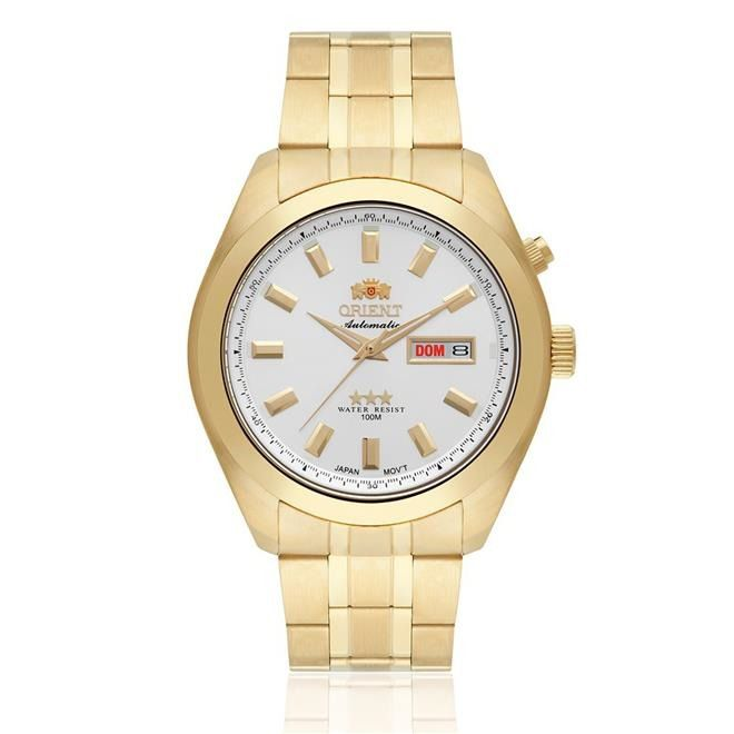 Relógio Orient Automático Dourado Masculino 469gp075 S1KX