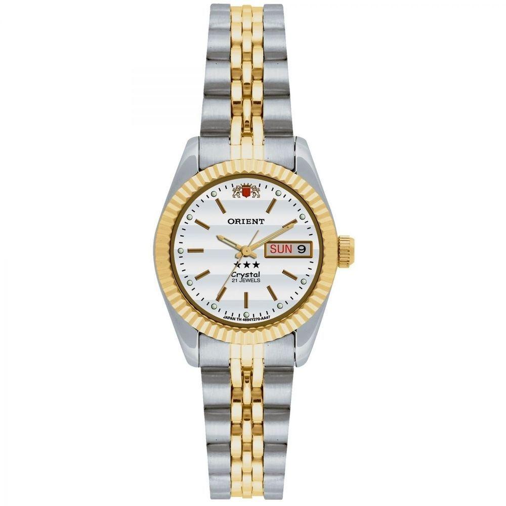 Relógio Orient Automático Feminino 559eb3x B1sk Aço Misto